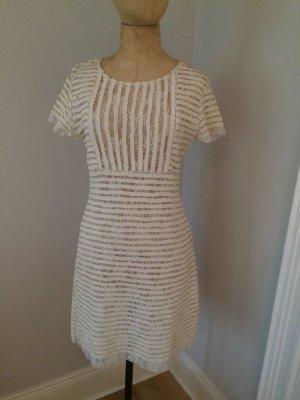 Cynthia Rowley Leder Spitzen Kleid Gr. 38 top