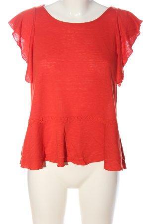 Cynthia Rowley Blouse en lin rouge style décontracté