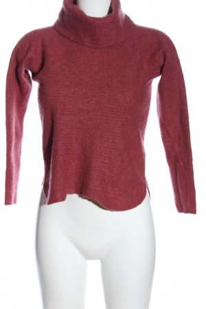 Cynthia Rowley Turtleneck Sweater red flecked casual look
