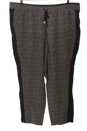 Cynthia Rowley Pantalone jersey nero-grigio chiaro stampa integrale stile casual