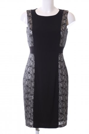 Cynthia Rowley Stretchkleid schwarz-weiß grafisches Muster Casual-Look