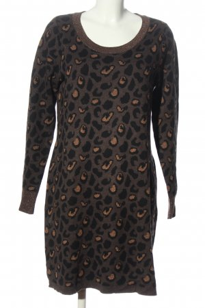 Cynthia Rowley Knitted Dress brown-black allover print casual look