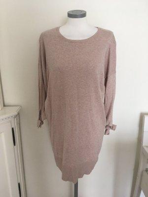 Cynthia Rowley Strickkleid Kleid Long Pullover beige rosa nude rose 40 L