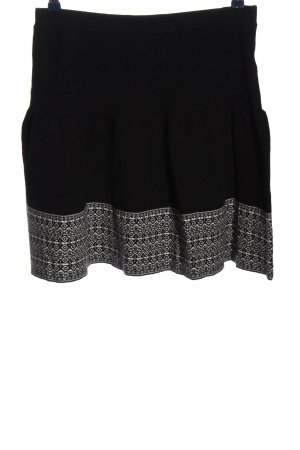 Cynthia Rowley Knitted Skirt black-white graphic pattern casual look