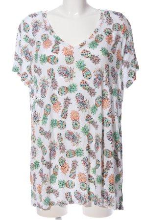 Cynthia Rowley V-Ausschnitt-Shirt Allover-Druck Casual-Look