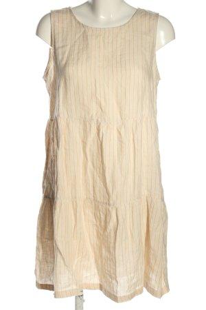 Cynthia Rowley Flounce Dress cream-light orange striped pattern casual look