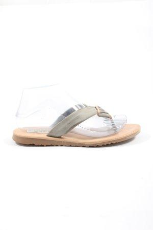 Cypres Flip Flop Sandalen wollweiß schlichter Stil