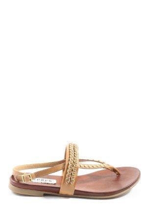 Cypres Komfort-Sandalen braun-goldfarben Casual-Look