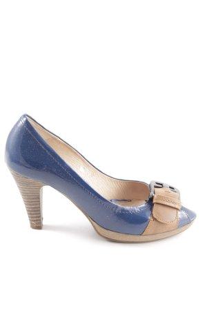 Cypres Peeptoe Pumps blau-braun Elegant