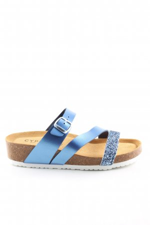 Cypres Beach Sandals brown-blue casual look