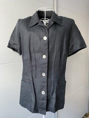 Cypris Polo Shirt black-anthracite linen