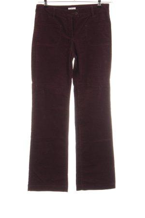 Cyrillus Pantalon en velours côtelé brun style décontracté