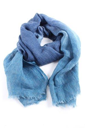 Cyrillus Fransenschal blau meliert Casual-Look