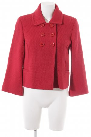 Cyrillus Short Jacket red weave pattern casual look