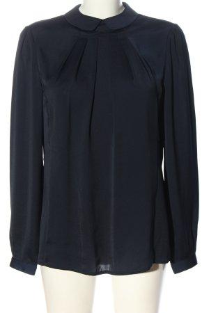 Cyrillus PARIS Long Sleeve Blouse blue business style