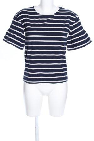 Cyrillus Stripe Shirt white-blue striped pattern casual look