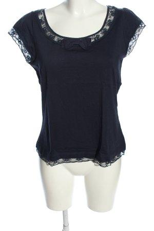 Cyrillus T-Shirt schwarz Casual-Look
