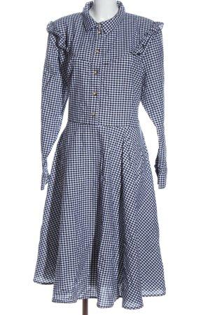 Cyroline Shirtwaist dress blue-white allover print casual look