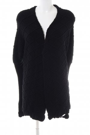 D. Exterior Cardigan schwarz Business-Look