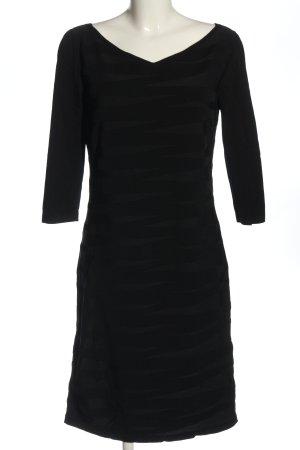 D. Exterior Longsleeve Dress black elegant