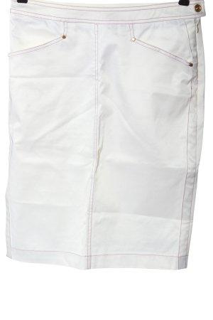D. Exterior Midi Skirt white casual look