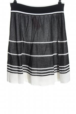 D. Exterior Midi Skirt black-white spot pattern casual look