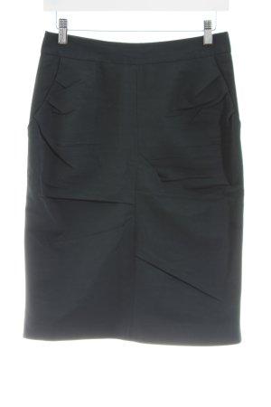 D. Exterior Midi Skirt black business style