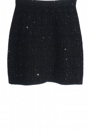 D. Exterior Miniskirt black check pattern elegant