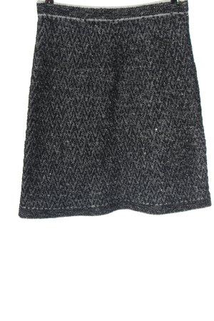 D. Exterior Miniskirt black-white allover print casual look