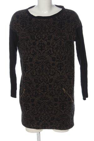 D. Exterior Long Sweater light grey-black allover print casual look