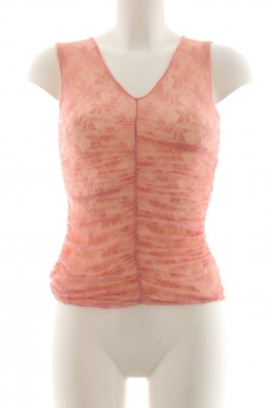 D. Exterior Lace Top light orange abstract pattern casual look