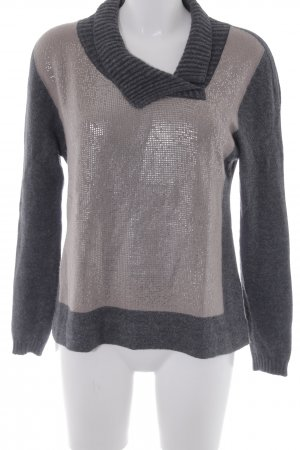 D. Exterior Knitted Sweater spot pattern casual look