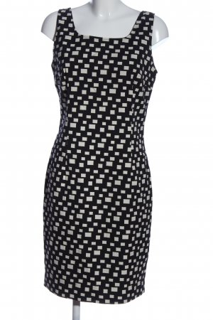 D. Exterior Pinafore dress black-white allover print casual look