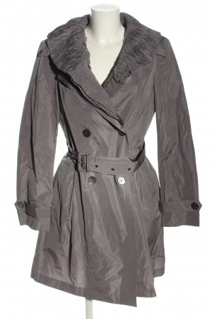 D. Exterior Trench Coat light grey casual look