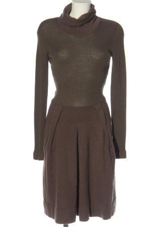 D. Exterior Woolen Dress brown casual look