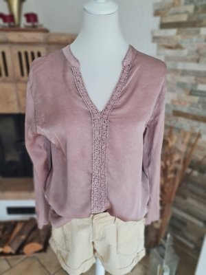 D&F Fashion Połyskująca bluzka w kolorze różowego złota