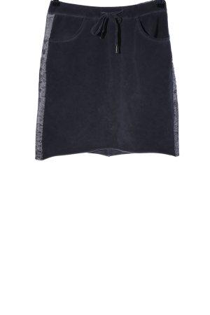 D&F Fashion Stretchrock schwarz Streifenmuster Casual-Look