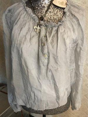❤️D&F Fashion süße Bluse Gr. 38/40 grau