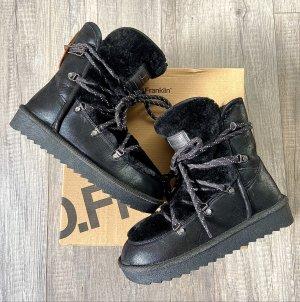 D.Franklin Snow Boots natural white-black