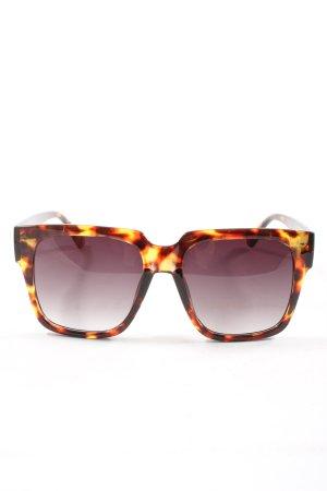 D.Franklin Hoekige zonnebril bruin-licht Oranje abstract patroon