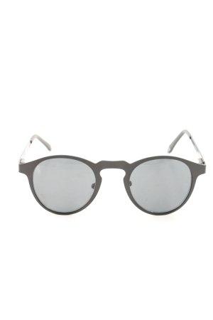 runde Sonnenbrille schwarz Casual-Look