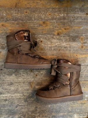 D.Franklin Snow Boots bronze-colored-brown
