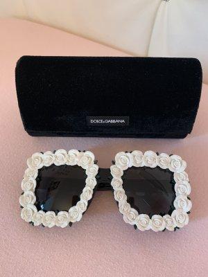 Dolce & Gabbana Occhiale da sole spigoloso bianco-nero