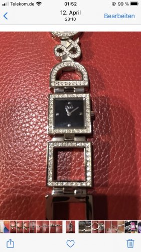 D&G Watch With Metal Strap black-silver-colored