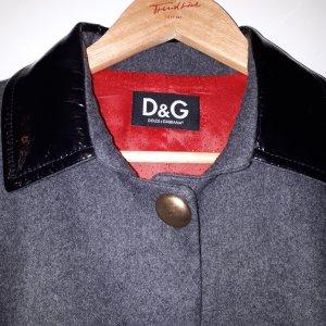 D&G Blazer, Wolle, anthrazit/schwarz, Gr.38 EU (IT 44)