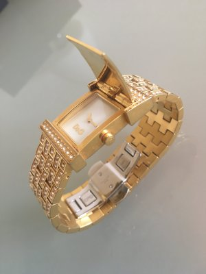 Dolce & Gabbana Montre avec bracelet métallique jaune-blanc métal