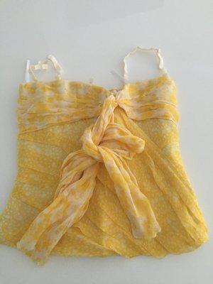 Dolce & Gabbana Haut type corsage blanc-jaune