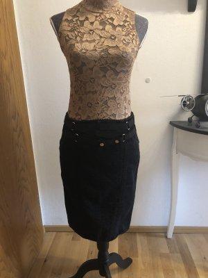 Dolce & Gabbana Jupe crayon noir-argenté