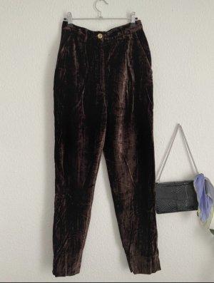 Dolce & Gabbana Boyfriend Trousers black brown-dark brown