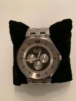 D&G Automatisch horloge zilver